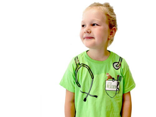 Little Rescuers T-shirt - with stethoscope